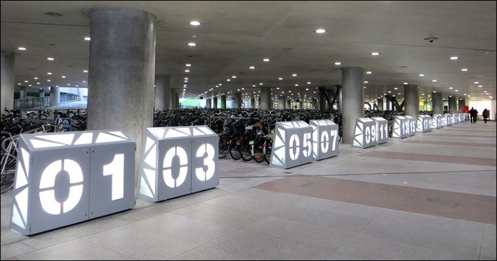 Gent ondergrondse fietsenstalling Sint-Pietersstation