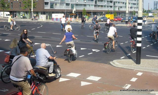 Antwerpen start met vierkant groen voor fietsers