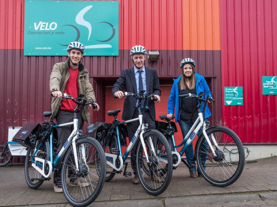 Eerste e-bikes bij personeel KULeuven