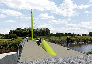 Fiets- en wandelbrug in Lier geopend